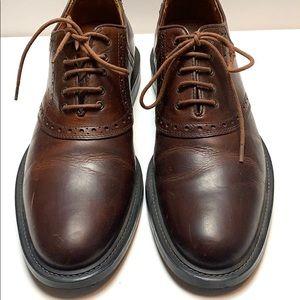 Leather Saddle Oxfords
